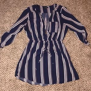 Navy Striped Dress